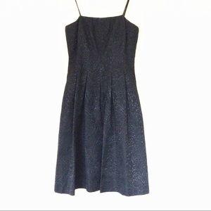 David Meister Black  Strap Dress